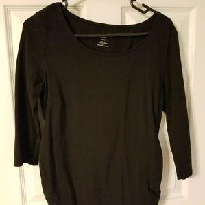 H&M Mama Black 3/4 Sleeve Top